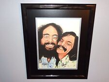 Cheech & Chong Rare Authentic Hand Signed Poster Print Tommy & Marin Autographed