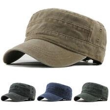 Military Hat Cap Army Cadet Men Women Casual Baseball Size Adjustable Strap