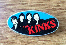 THE KINKS vintage enameled clasp pin badge large 45 x 22 mm