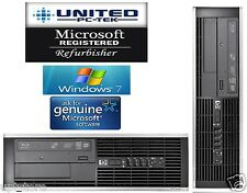 Fast HP 6000/8000 OR 4000 Windows 7 Quad Core 2.66GHz, 8GB DDR3 DVD WiFi Desktop
