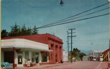 Main Street View Old Cars Stores in Cambria California CA Postcard A19