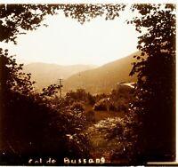 FRANCE Massif des Vosges Col de Bussang , Photo Stereo Vintage Plaque Verre VR4L
