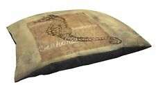 Manual Woodworkers & Weavers In/Outdoor Lg Breed Pet Bed, Shore Life 4-Seahorse
