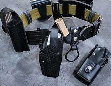 Safariland Glock 1722 Duty Belt Basketweave Belt Size 32 34 With All Pouches Rh
