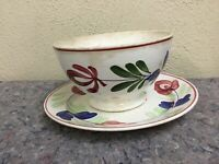 Antique Hand painted Porcelain Bowl And Plate
