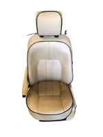 PR HONDA CL77 CL72 1962-1968 SEAT COVER *FLAT SEAT* *SILVER PIPING* HCOSS