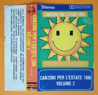 COPERTINA INLAY MC Musicassetta CANZONI PER L'ESTATE 1986 Volume 2 no cd lp dvd