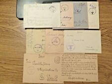 More details for 1941-1944 german reich eight vintage covers /fieldpost wwii,incl.one letter