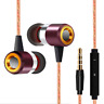 Extra Bass In-Ear-Kopfhörer & In-Ear Stereo Sport Ohrhörer/Earphones (Weinrot)