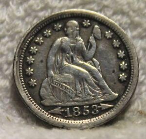 1853 seated dime