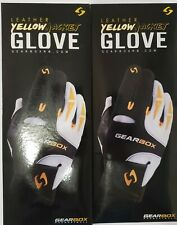 New listing GEARBOX YELLOW JACKET RACQUETBALL GLOVE RIGHT HAND X-LARGE 2 GLOVES NEW
