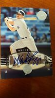 2004 WADE BOGGS  Auto /75  SP #300 UD Timeless Teams  Short Print  !