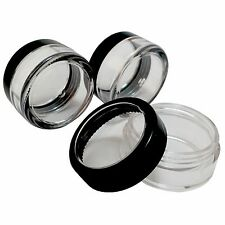 330 Pack Free EMS Clear Plastic Container w Black Trim Acrylic Window Lid 10 g