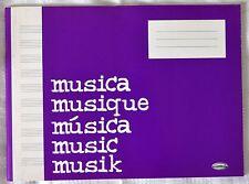 Cuaderno de musica, 10 Pautas, 64 paginas , Papel blanco, formato A4