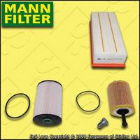 SERVICE KIT AUDI A3 (8P) 1.9 TDI MANN OIL AIR FUEL FILTERS FF=116MM (2003-2006)