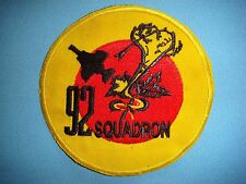 """ROYAL AIR FORCE PATCH RAF 92 SQUADRON """" SPITFIRE """""""