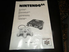 OFFICIAL Nintendo 64 System Manual N64 Console Instruction Booklet