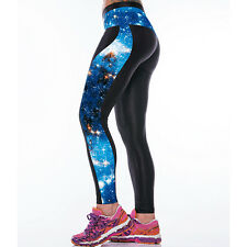 Womens Yoga Gym Pants Sports Running Cropped Leggings Jogging Fitness Trousers