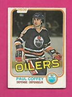 1981-82 OPC # 111 OILERS PAUL COFFEY  ROOKIE GOOD CARD (INV# D1641)