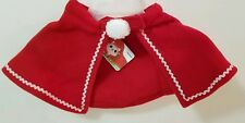 Christmas Cape Jacket Dog Santa Fleece Red White Trim Coat Small Breed Puppy New