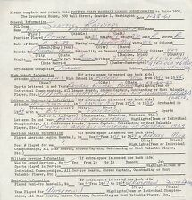 DICK RADATZ 1961 SIGNED PRINTED BASEBALL QUESTIONAIRE PRE MLB 71117