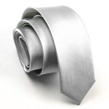 New Solid Color Plain Satin Men's Tie Neckti