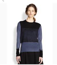 Rag & Bone Womens Marissa Colorblack Sweater Blue Black Sz XS