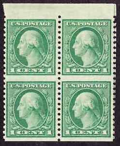 (10106) U.S./US: blk of 4 of #538a, NH OG, imperf horiz., with 1984 PF cert.