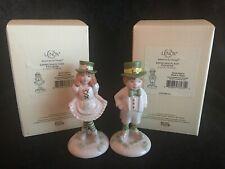 Lenox Leprechaun Girl & Boy Pair St Patricks Day Irish Porcelain Figurines New