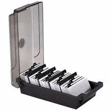 Business Card Holder Box File Storage Index Rolodex 500 Cards With A-Z Guide