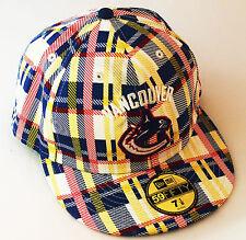 Vancouver Canucks 59FIFTY  New Era Flatbilled  NHL Baseball Cap Sports Hat