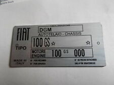 S23 Nameplate Fiat Shield Tipo 100 GS 850 Sport Spider