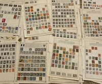 WORLDWIDE STAMP LOT ON ALBUM PAGES, STAMPS FROM 30 WW COUNTRIES (NO U.S.)