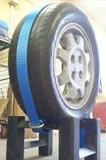 Spec Lift Dolly Car ADJUSTABLE OVER WHEEL Recovery Straps (Ratchets, flat hooks)