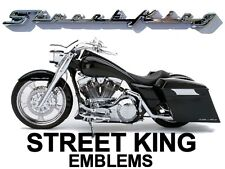 """STREET KING"" Fender / Saddlebag Emblems for Harley Davidson Road King RoadKing"