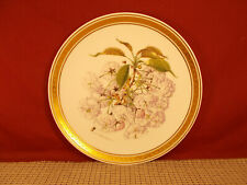 """Franklin Porcelain Royal Horticultural Society Cherry Blossom Plate 9 1/8"""" 1980"""