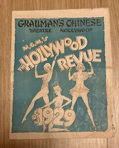 Vintage Movie Herald MGM Hollywood Review Of 1929 Grauman's Chinese Theater