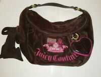 EUC ~ Authentic Juicy Couture Espresso Brown Velour Hobo Shoulder Bag