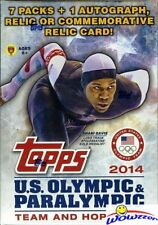 2014 Topps USA Olympics Team Factory Sealed Blaster Box+AUTOGRAPH/RELIC CARD