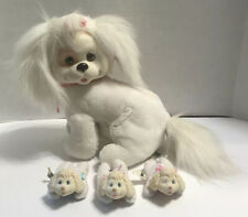 Puppy Surprise Vintage Hasbro 8785 Stuffed Dog White Pink 3 Puppies