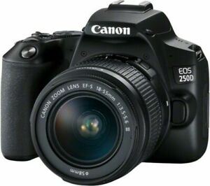Canon EOS 250D 24.1MP Digital SLR Camera - Black (Kit with EF-S 18-55 mm...