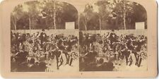 FRANCE Cavalcade Carnaval Mardi Gras Nice Cannes ? STEREO Vintage citrate