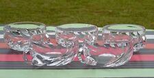 Lot de 5 tasses en cristal de Saint Louis, modèle Bidassoa Signées