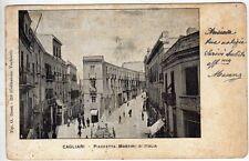 cartolina postcard - CAGLIARI PAZZETTA MARTIRI D'ITALIA