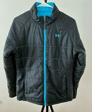 UNDER ARMOUR Black/Blue Reversible Polyester Insulated Quilted Jacket size M/L