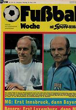 Fußball Woche 38/1975,Bundesliga,HERTHA BSC BERLIN POSTER,Supercup,Mofa ab 14?
