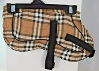 Bailey & Bella Companion Couture - Tan Plaid Blanket Jacket (Pet/Dog) Various