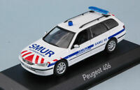 Model Car Ambulance diecast Norev Peugeot 406 Break Miniatures Scale 1:43