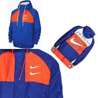 ✅ Nike NWT Double Swoosh Hooded Woven Jacket Loose Fit CJ4888-455 Size Xlarge