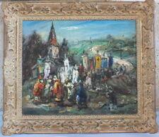 HST Maurice Vagh Weinmann Croisés chemin Compostelle peinture tableau huile